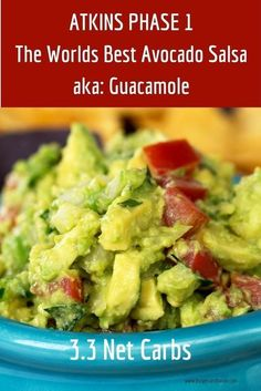 Atkins diet recipes phase 1. This quick and easy snack is perfect for game day or just watching a movie. Perfect for Atkins Phase 1 Induction Plan. This is seriously the best guacamole you've ever eaten. #atkins #phase1 #lowcarbinduction