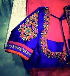 To order, pls whatsapp on 94929 91857 Wedding Saree Blouse Designs, Silk Saree Blouse Designs, Choli Designs, Fancy Blouse Designs, Blouse Neck Designs, Sleeve Designs, Blouse Styles, Hand Work Blouse Design, Maggam Work Designs