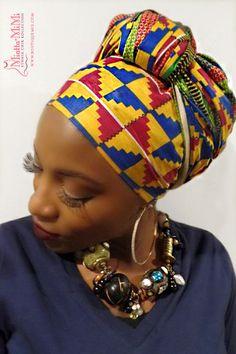 African head wraps for women, Head wraps, Kente head wraps ...
