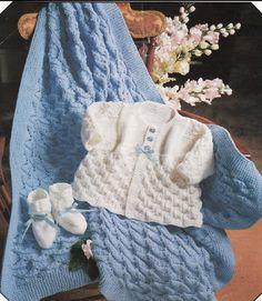 KNITTING PATTERN  Baby Matinee Coat/Jacket/Sweater by carolrosa