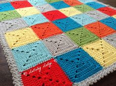 Cath Kidston Colours Crochet Patchwork Blanket