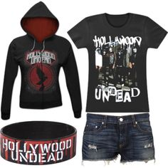 """Hollywood Undead"" by xxhollywoodundeadxx on Polyvore I know it's not SPN but I didn't want to make a separate board. Sorry!"