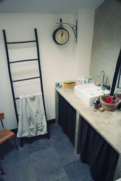 meuble salle de bains rose poudre bathroom pinterest d co et roses. Black Bedroom Furniture Sets. Home Design Ideas