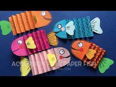 Accordion fold paperfish - YouTube