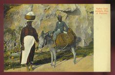 PANAMA ~ NATIVE FRUIT VENDORS WITH THEIR DONKEY ~ c. 1910's.       Propiedad y cortesía de Archivos Rodríguez LLC, archivofotograficodepuertorico.com