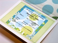 sewn birthday party invitations