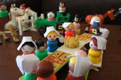 Happy Thanksgiving - Vintage Fisher Price  Little People