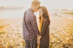 foggy morning engagement pictures