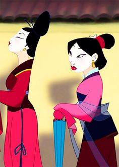 Mulan- me when trying to be girly: what the heck am i doing this is never going to work!