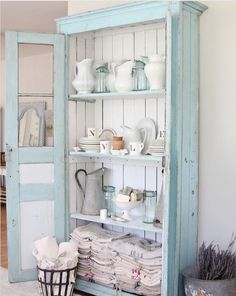 great old armoire for dishes and linens