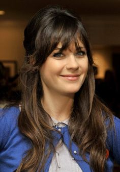 Zooey Deschanel Hair Hair... I think I'll do this for my winter hair color