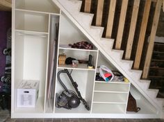 Super under the basement stairs ideas staircases Ideas Under Staircase Ideas, Closet Under Stairs, Space Under Stairs, Basement Staircase, Staircase Storage, Entryway Stairs, Under Stairs Cupboard, Attic Stairs, Stair Storage