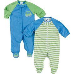 Gerber Newborn Boy Sleep N Play, 2-Pack