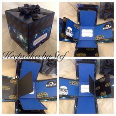 Birthday Cake Gift, Birthday Thank You Cards, Birthday Box, Online Gift Shop, Online Gifts, Explosion Box Design, Regalos Star Wars, Exploding Gift Box, Ideas Aniversario
