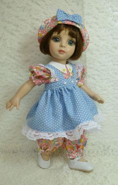 "Rompers and Pinafore Outfit for 10"" Patsy by Tonner Anne Estelle by Apple"