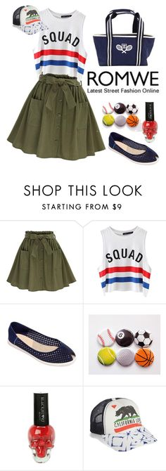 """#romwe olive green skirt"" by issuri ❤ liked on Polyvore featuring Chicnova Fashion, Cape Cod Shoe Supply Co., Billabong and Chanel"