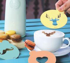 Hip Coffee Stencil Set