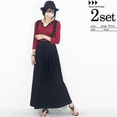 Buy 'Beccgirl – Set: Open-Placket Ribbed Top   Jumper Maxi Skirt' with Free International Shipping at YesStyle.com. Browse and shop for thousands of Asian fashion items from South Korea and more!
