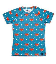 camiseta running mujer zorros zorritos Hoopoe Running Apparel