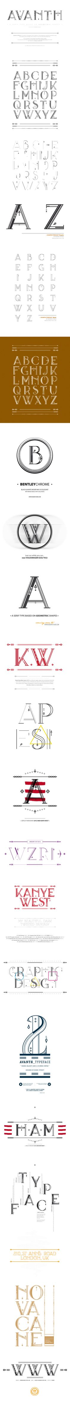 AVANTH typeface by Noem9 Jose Garrido, via Behance. Love the details.