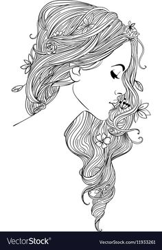Beautiful Girl Coloring Pages : beautiful, coloring, pages, Beautiful, Women, Coloring, Pages, Adults
