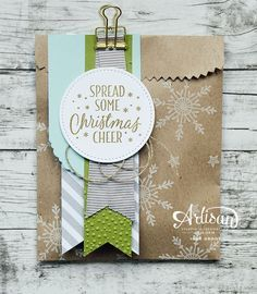 Tin of Tags, Stitched Shapes Framelits Golden Binder Clips, Linen Thread, Hearts and Stars Decorative Masks, Banner Triple Punch, Lots of Labels Framelits, Cheerful Tags Framelits Dies, Softly Falling Embossing Folder, Kraft a Bag Gift Bags ~Inge Groot