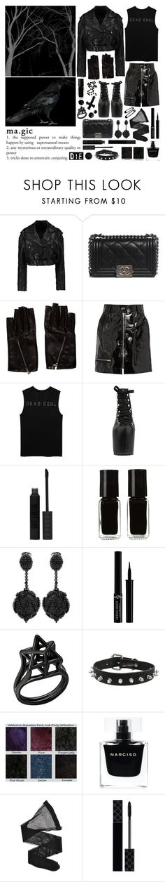"""your eyes are black like an animal"" by nothingisnormal ❤ liked on Polyvore featuring TIBI, Chanel, Isabel Marant, UNIF, Topshop, The New Black, Oscar de la Renta, Giorgio Armani, Narciso Rodriguez and Gucci"