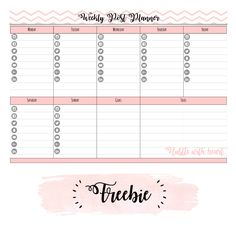 To Do List Weekly Printable Planner Includes Must Do Column