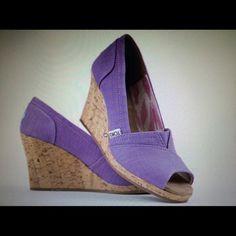Light purple Toms platforms Light purple Toms platforms worn only a few times , comes with dust bag TOMS Shoes