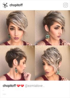 43 Best Short Hairstyles with Bangs in 2019 Short Hair With Side Bangs Short Hair With Bangs, Short Hair Cuts, Short Sassy Hair, Hairstyles With Bangs, Pretty Hairstyles, Hairstyles 2018, Edgy Pixie Hairstyles, Messy Pixie Haircut, Undercut Pixie