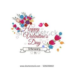 Valentines day card. Bright flowers background