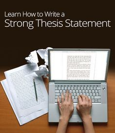 All writers of essays need to know how to write a thesis statement     Pinterest