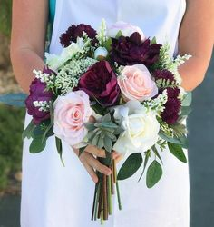 This is a beautiful bouquet made with the most realistic flowers available. So amazing to the touch that people wont be able to tell they are not real! A wild spray mix of Roses, Succulents, Peonies a Fall Wedding Bouquets, Fall Wedding Flowers, Bride Bouquets, Bridal Flowers, Flower Bouquet Wedding, Wedding Colors, Wedding Ideas, Flower Bouquets, Wedding Blush