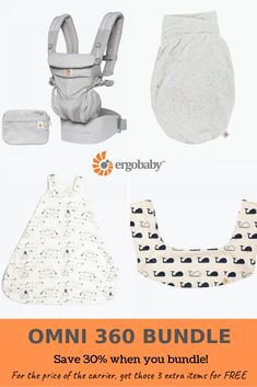 115c973d482 Save 30% when you bundle! 1. Omni 360 Baby Carrier 2. Teething Pad 3.  Swaddler 4.. Baby Sleeping Bag (affiliate)  newmom  babycarrier  ergo  baby   newbaby ...