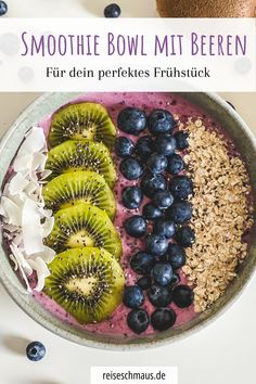 Healthy Breakfast Recipes, Healthy Snacks, Snack Recipes, Healthy Recipes, Sweet Breakfast, Breakfast Bowls, Sports Food, Food Bowl, Superfood