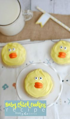 Here's a fun and easy Easter dessert recipe! Baby Chick Cookies are fun for little kids to help with, and so simple!