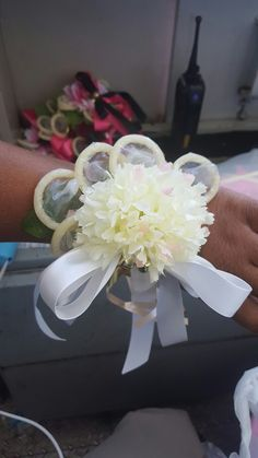 Condom corsages for the bride #victoriasecretthemed #bridalshower #condomcorsage