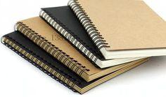 1 x Plain Kraft Paper Notebook Blank Note Pad Spiral Journal Diary Sketchbook Cahier 13 x 18cm