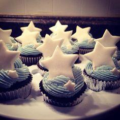 Winter Star Cupcakes