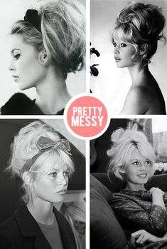 brigitte bardot and her always perfectly un-done updo.
