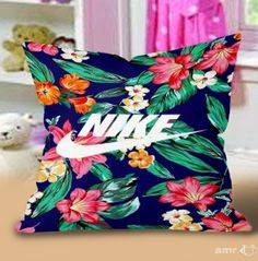 NIke Floral Vintage Pillow Cases