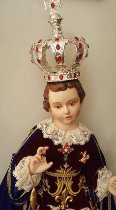 Catholic Art, Religious Art, Infant Of Prague, Jesus Photo, Baby Jesus, My Father, Statues, Zen, Christ
