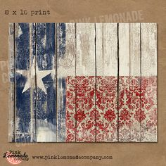 Texas Flag Art Print vintage wood chippy by Pinklemonadecompany Fourth Of July Decor, 4th Of July Decorations, July 4th, Patriotic Crafts, July Crafts, Americana Crafts, Pallet Art, Pallet Flag, Pallet Projects