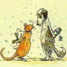 Illustration/Painting by Anita Jeram Art And Illustration, Illustration Mignonne, Art Mignon, Dog Art, Cute Art, Illustrators, Cute Animals, Sketches, Pets