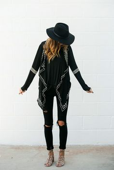 We'd like to call it the boho-chic mix. Loving that all-black is in again. #WeLoveFall