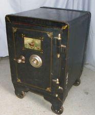 antique 1908 j baum floor safe w wheels 3 locking doors 600 lbs ebay bartholomew. Black Bedroom Furniture Sets. Home Design Ideas
