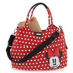 Disney Minnie Mouse Diaper Bag By Storksak Red Polka Dot Clothing