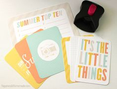 Project Life layout showcasing the wonderful Summer Lovin' Collection of printables from Simple as That.