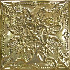 American Tin Ceiling Tiles: Pattern #14 in Metallic Gold
