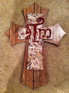 Texas A cross I made!!!!